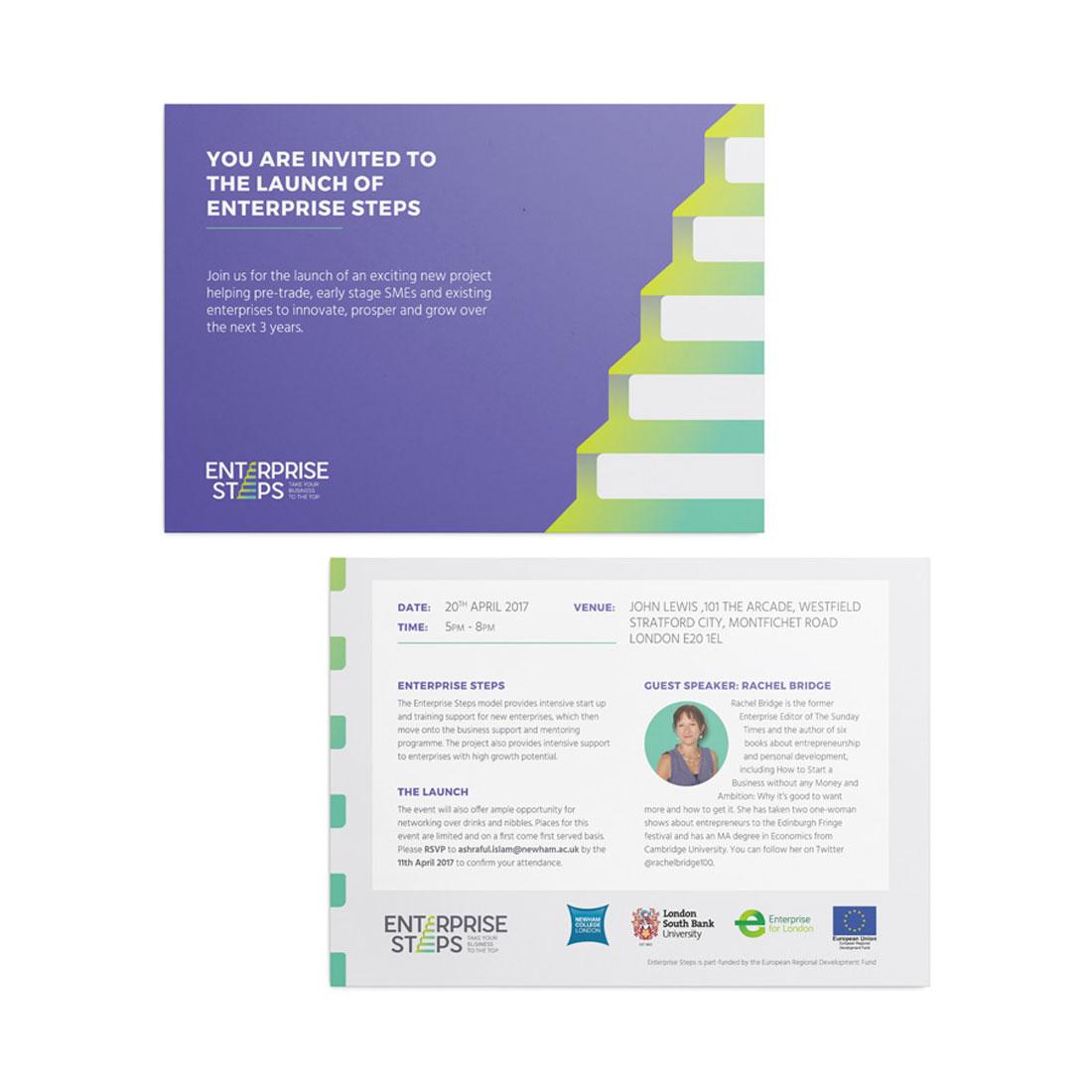 Newham College Enterprise Steps Elbowroom Graphics