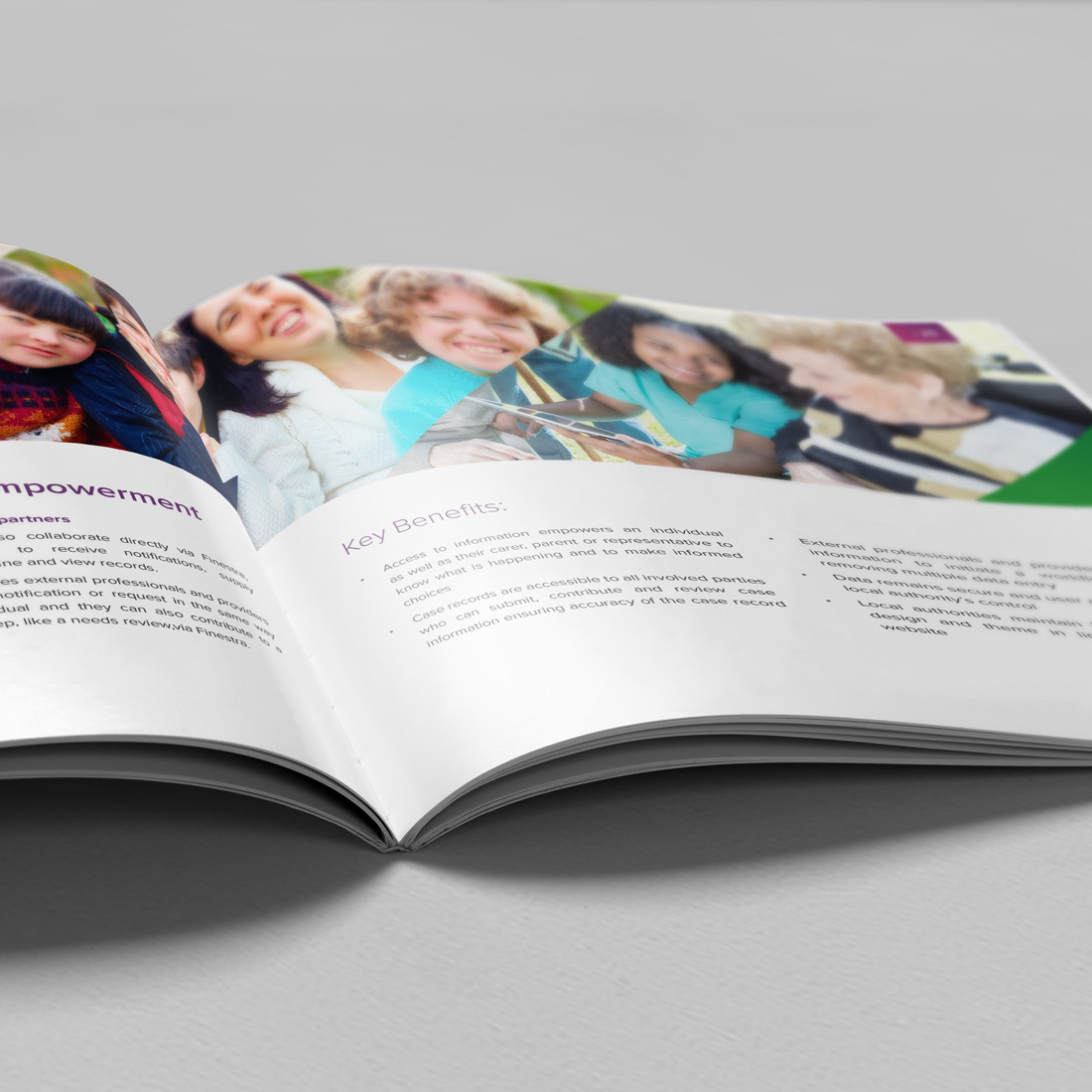 Servelec Health and Social Care Brochure Elbowroom Graphics