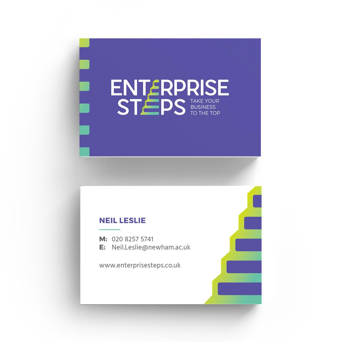 Enterprise Steps, NEWHAM COLLEGE Elbowroom Graphics