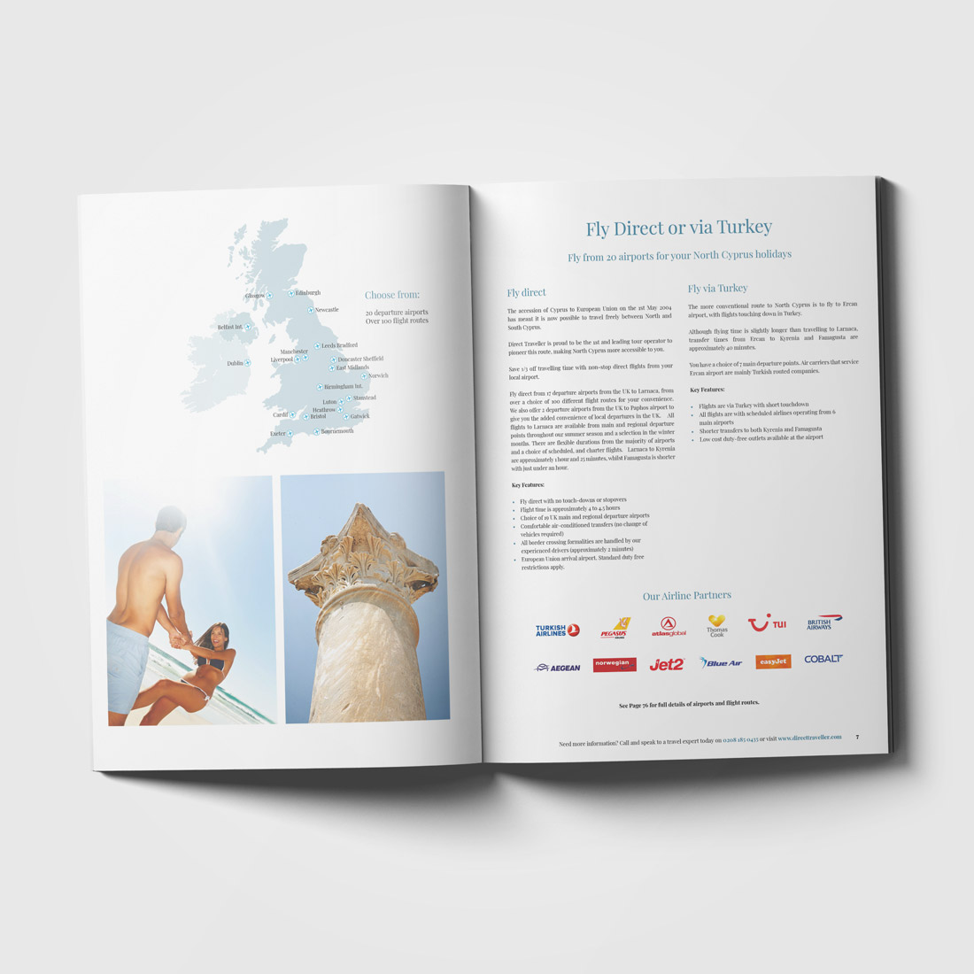 Direct Traveller 2018 Brochure Elbowroom Graphics