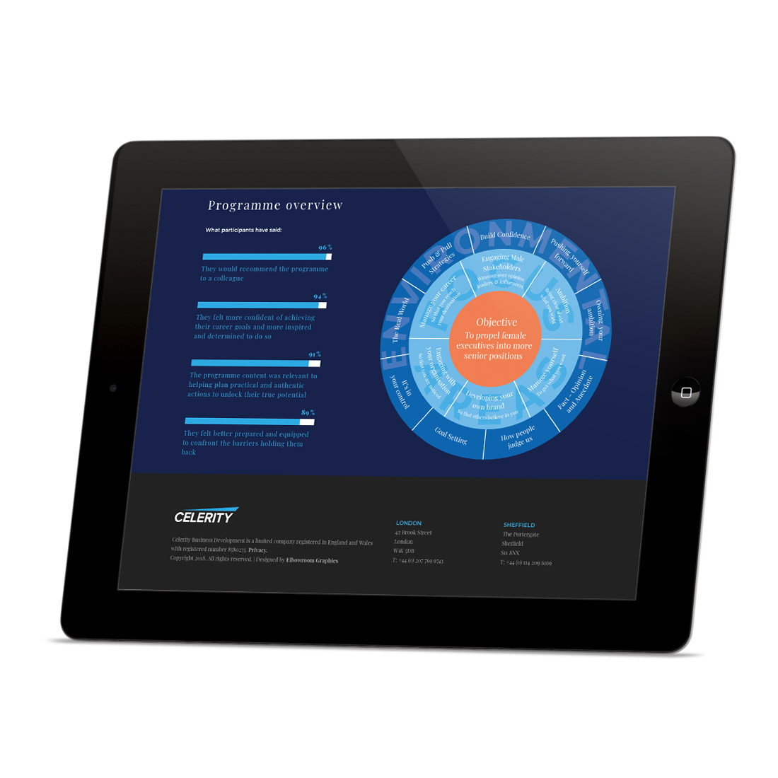 Celerity Executive Search website Elbowroom Graphics
