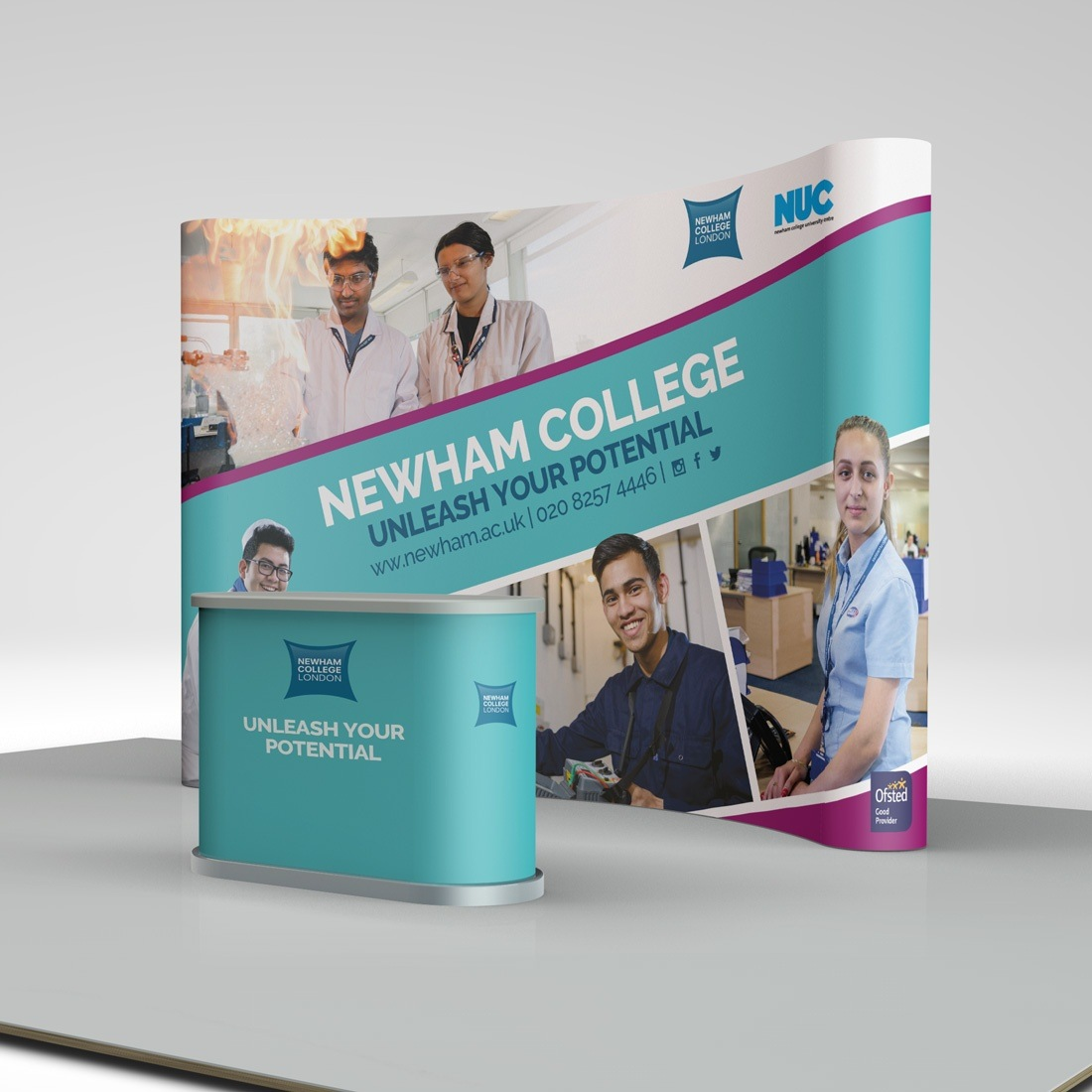 Discover Newham College Elbowroom Graphics