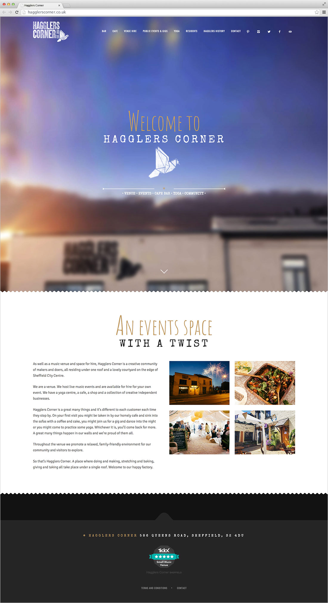 Hagglers Corner website Elbowroom Graphics