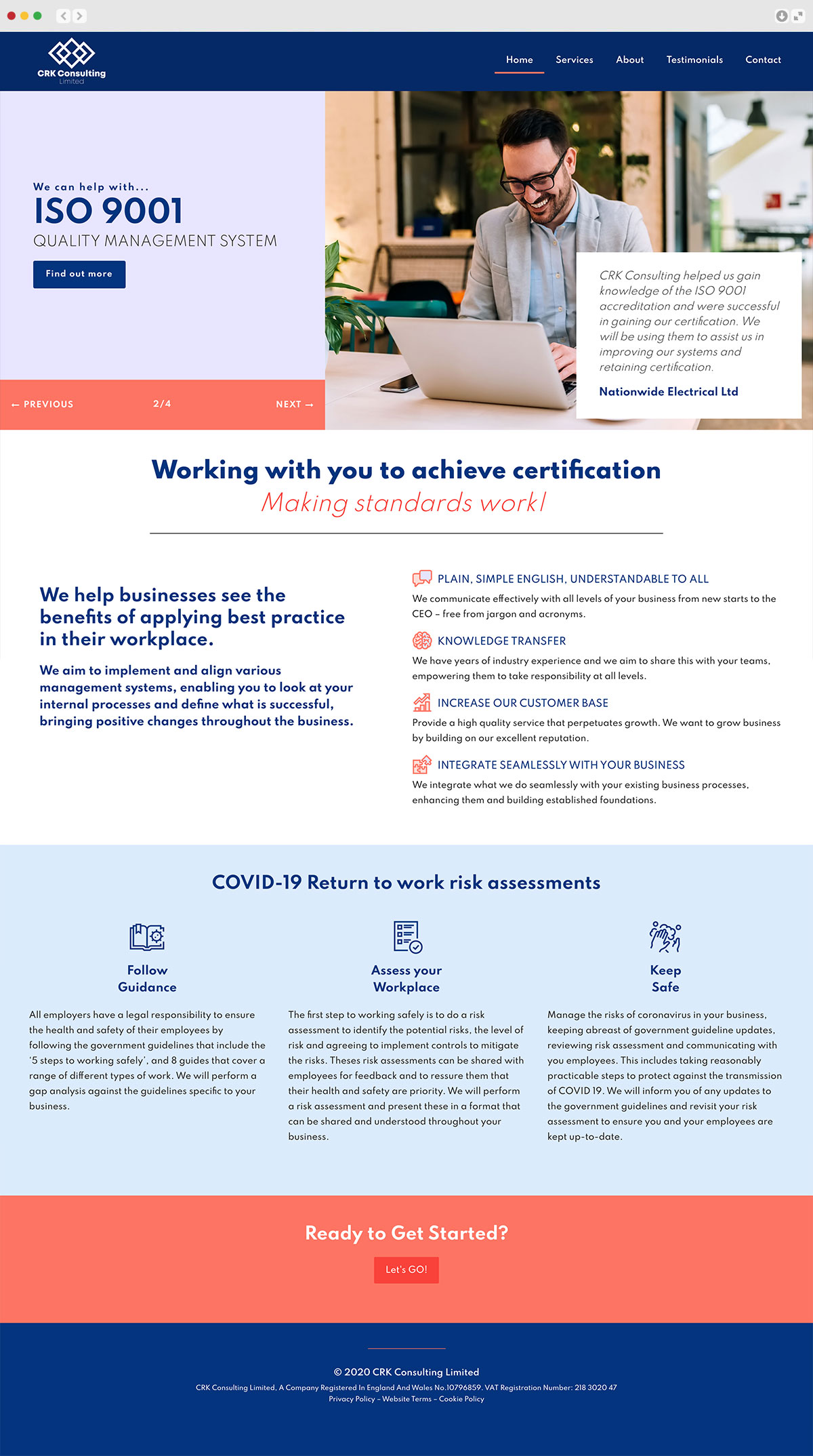 CRK Consulting website Elbowroom Graphics
